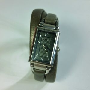 Fossil Taupe Leather Stainless Steel Watch, Works